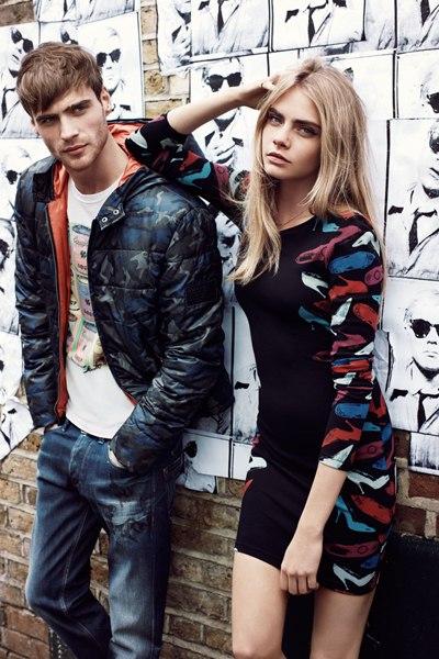 Джордж Элсфорд в кампании осень-зима 2013/14 для Pepe Jeans London