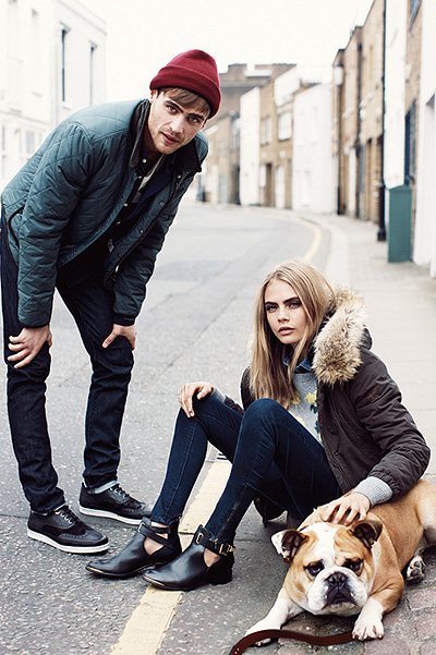Кара Делевинь лицо кампании осень-зима 2013/14 для Pepe Jeans London