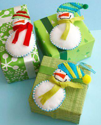Упаковка новогодних подарков 2014