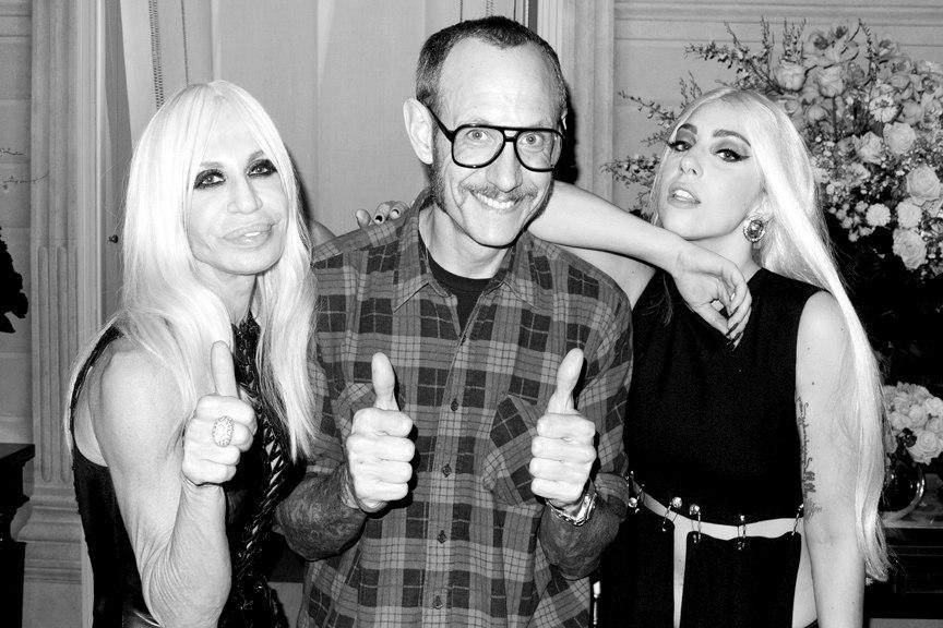 Terry Richardson, Donatella Versace and Lady Gaga