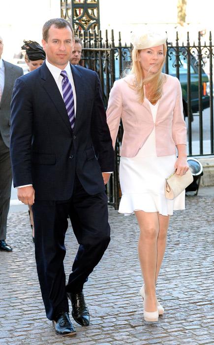 Старший внук королевы Елизаветы, Питер Филлипс, с женой - Отем Филлипс