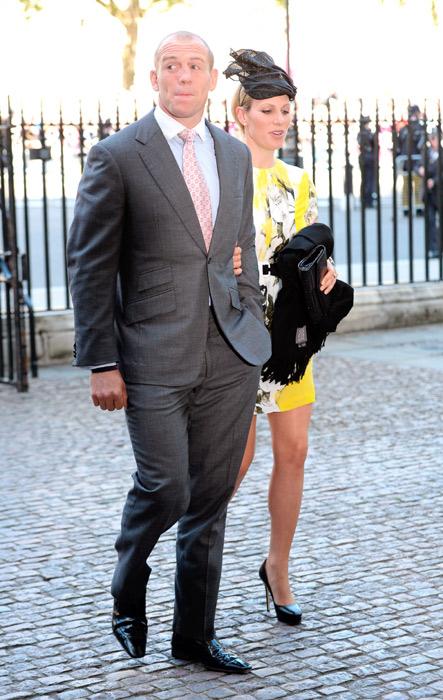 Внучка Елизаветы Зара Филлипс, с мужем 2013, Вестминстер