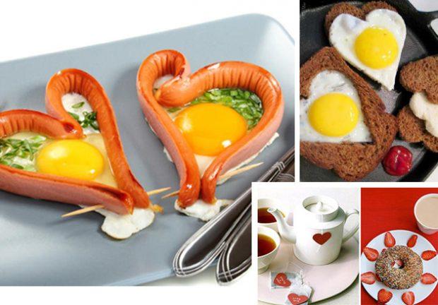 День Святого Валентина оформление блюда