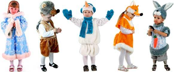 Детские костюмы на новый год 2 года