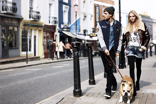 Pepe Jeans London Fall-Winter 2013/14: Cara Delevingne, George Alsford