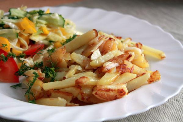 Картофель жареный соломкой пошаговый рецепт