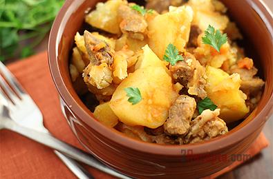 Варенный на пару картофель в мультиварке