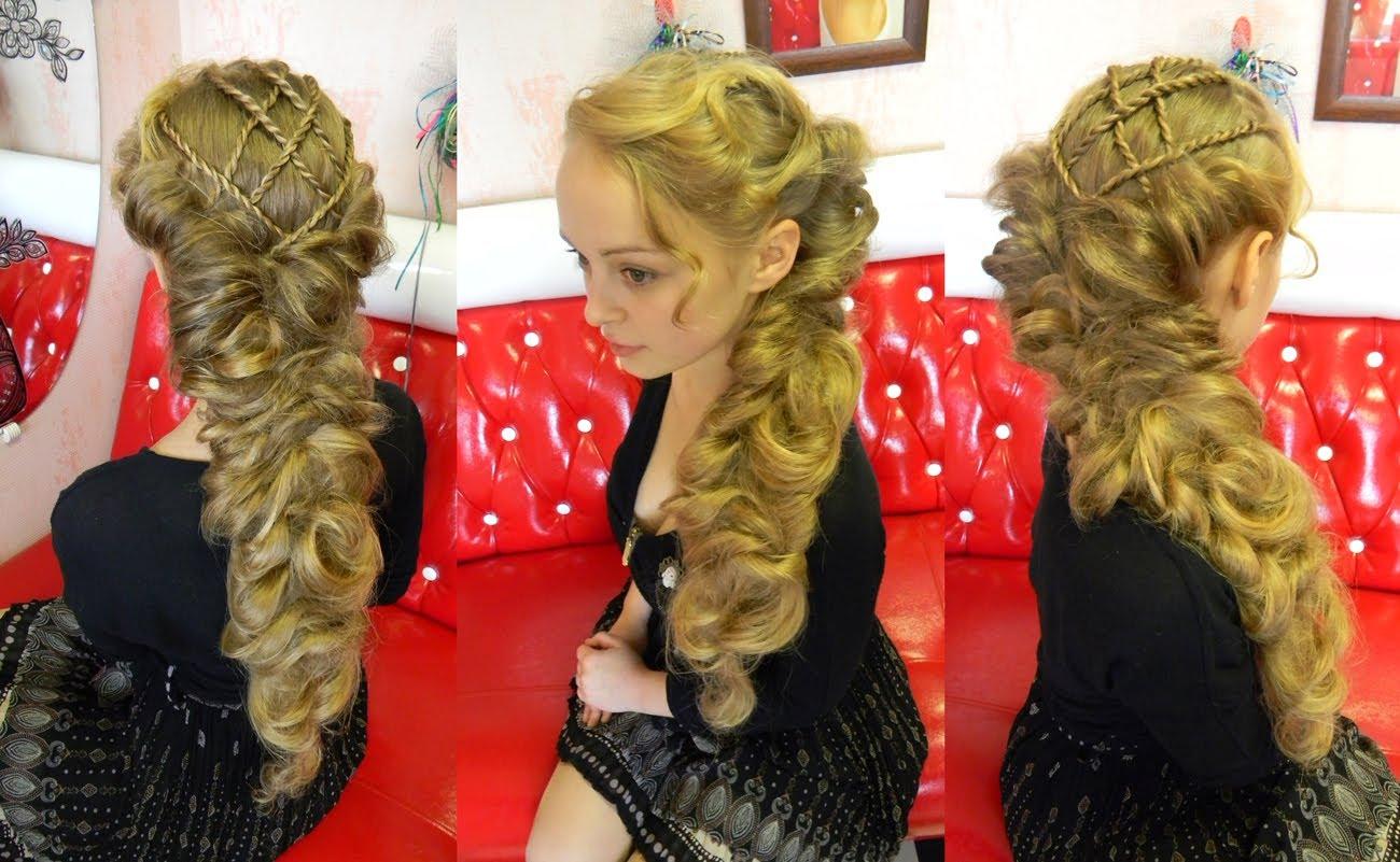 Коса в элифийском стиле