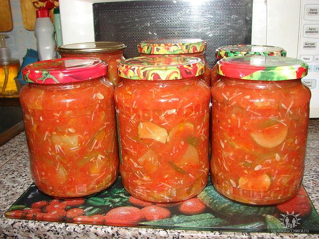 Рецепт огурцов в томате