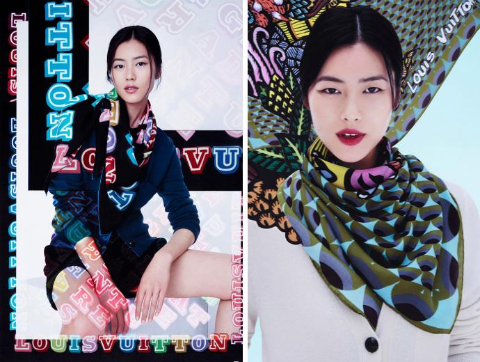 Платки в стилистике street art от Louis Vuitton