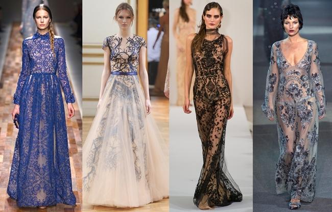 Платье с многослойностью фактур