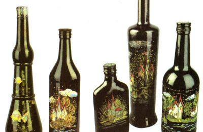 Роспись бутылок красками — советы декоратора