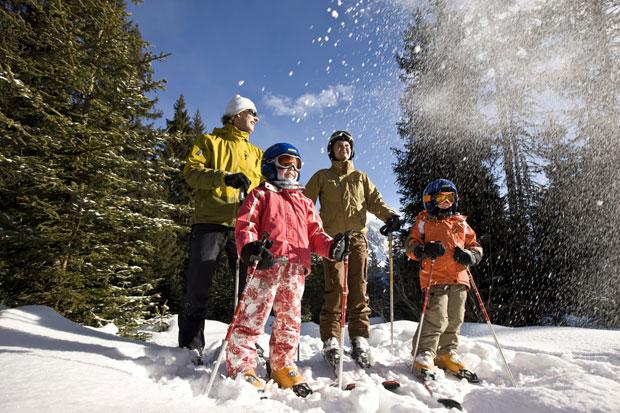 Новогодняя семейная прогулка на лыжах 2014