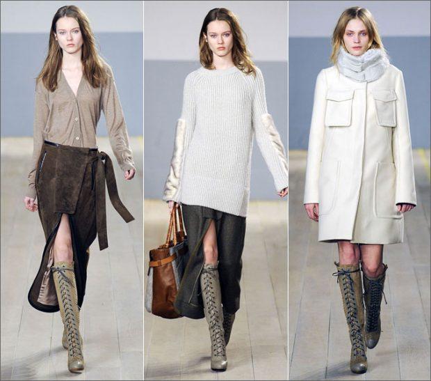 С чем носить стильные сапоги