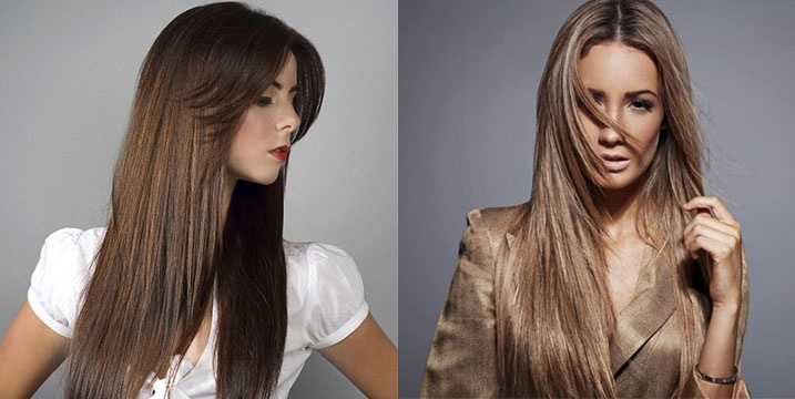 Тонкие и прямые длинные волосы