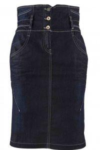 Джинсовая юбка карандаш - с чем носить?
