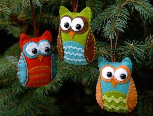 Оригинальные идеи новогодних елочных украшения своими руками  (много фото)