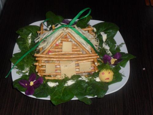 Новогодние рецепты с фото: Крабовый домик