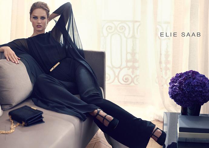 Кармен Педару лицо Elie Saab в 2013, фото в новой кампании