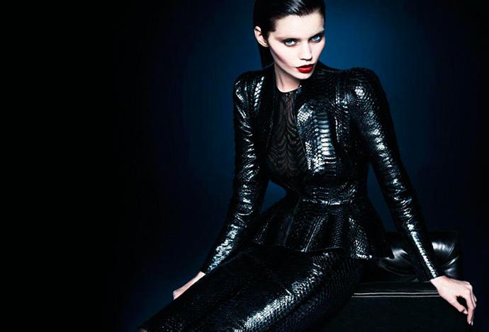 Новая коллекция Gucci осень-зима 2013/2014. Эбби Ли Кершоу и Эдриен Сахорес