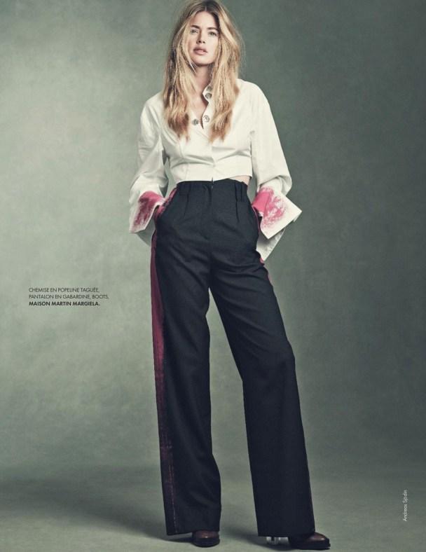 нидерландская супермодель Даутцен Крёз (Doutzen Kroes) стала героиней   августовского номера французского Elle