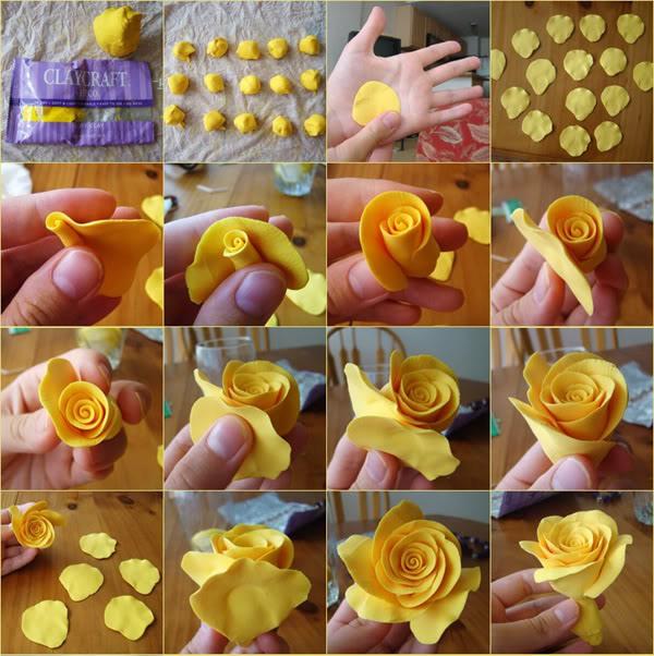 изготавливаем розу из полимерной глины (фотоинструкция)