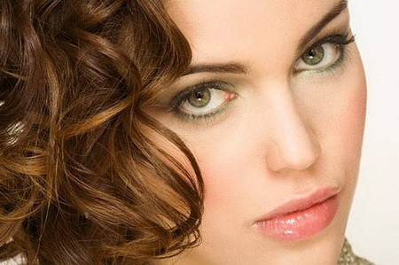 Дневной макияж для зеленых глаз