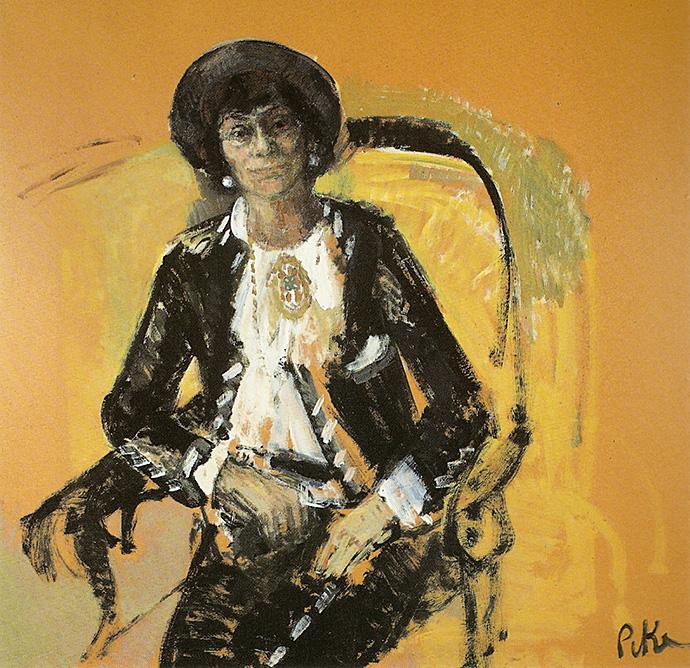 Выставка картин Мэрион Пайк: картины с изображением Коко Шанель