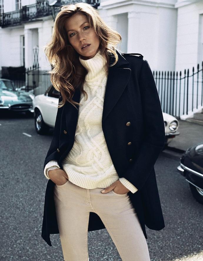 H&M: рекламная кампания сезона осень-зима 2013/14 с Жизель Бюндхен, фото