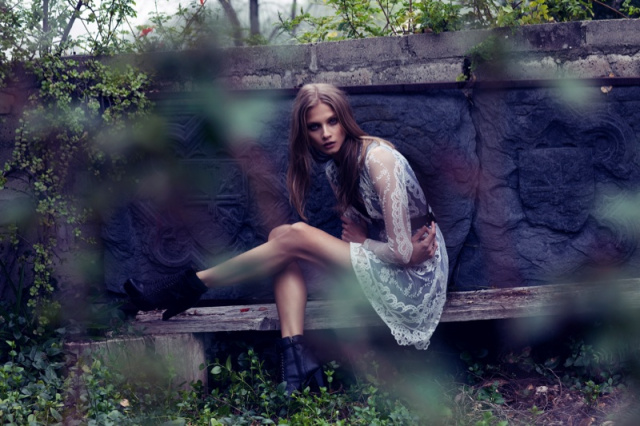 Фотосессия Анны Селезневой для For Love & Lemons, осень-зима 2013/2014