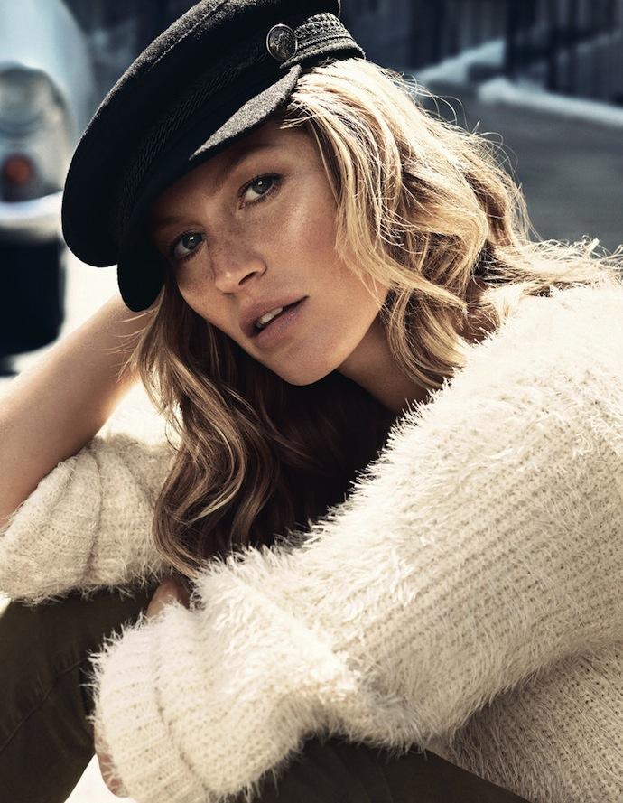 Жизель Бюндхен - лицо шведского бренда H&M, фотосет