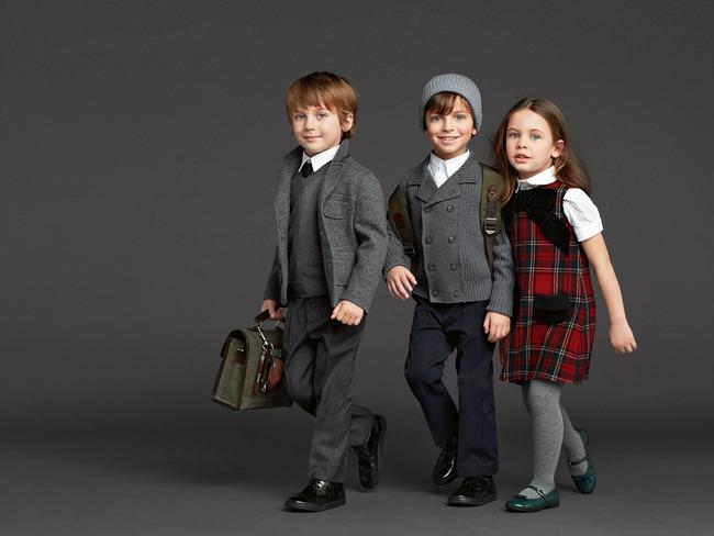 Осенне-зимняя коллекция школьной одежды от Dolce & Gabbana