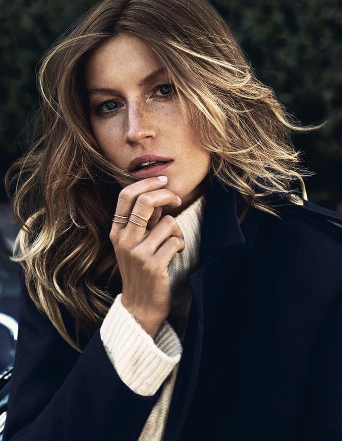 рекламная кампания с Жизель Бюндхен для шведского ритейлера H&M, новые фото 2013