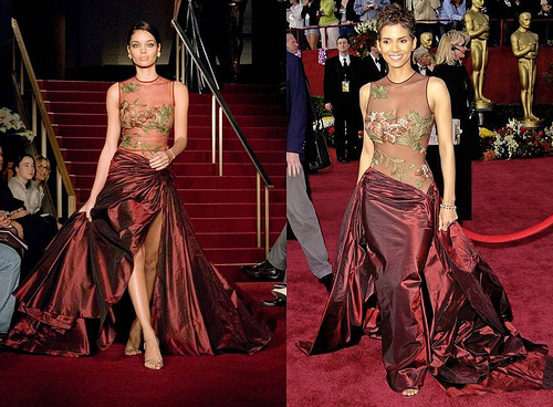 Оскар 2002: Холли Бери в платье Эли Сааб