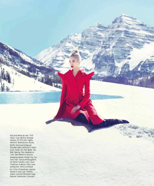 Snow Angel, Harper's Bazaar September 2013