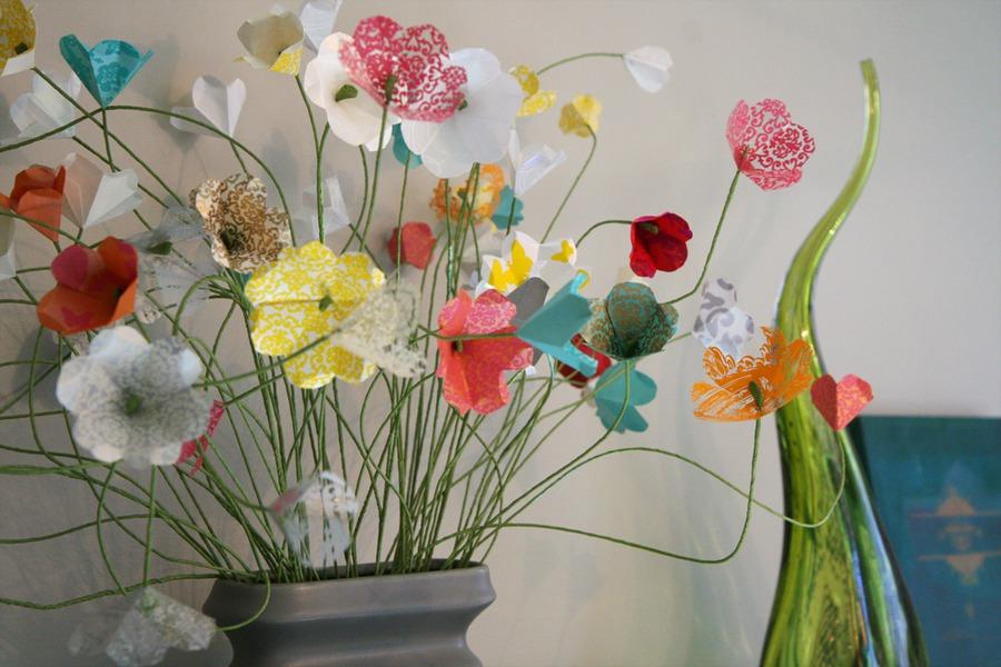 Искусственные цветы из бумаги своими руками