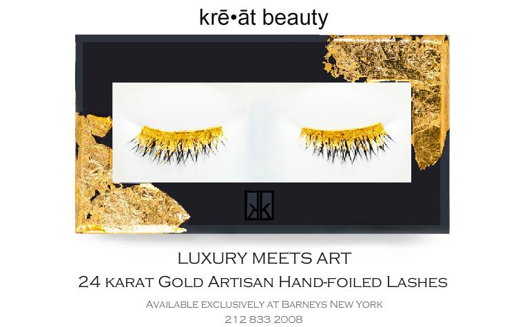 Золотые накладные ресницы от Kre-At Beauty