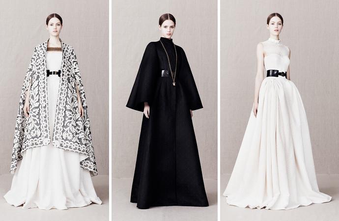 коллекция Сары Бёртон осень зима 2013-2014 для Alexander McQueen