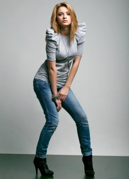 Классные ботильоны с джинсами