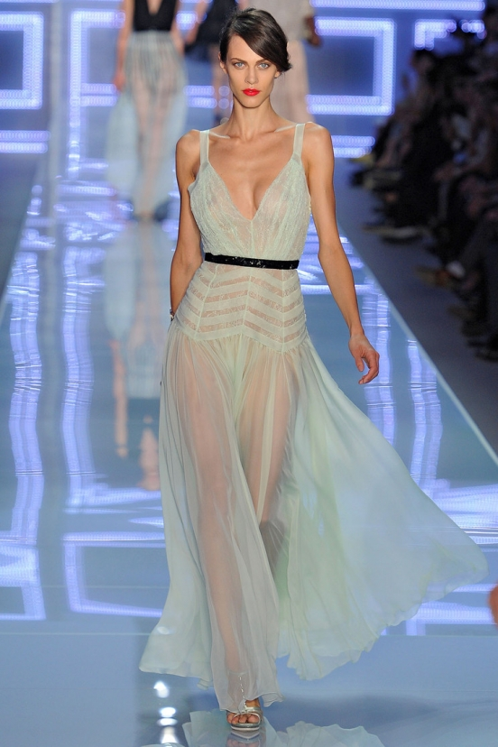 Короткие платья из шифона 2013