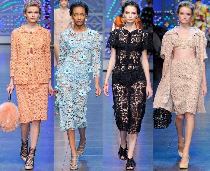 Модные гипюровые платья