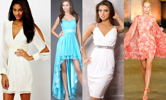 Выбор ткани для выпускного платья 2014