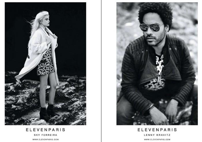 Eleven Paris:Lenny Kravitz and Sky Ferreira 2013
