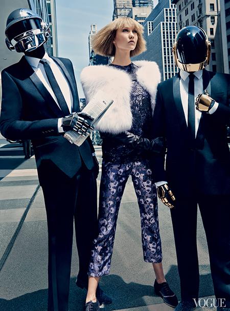 Karlie Kloss, Daft Punk, Craig McDean for Vogue US