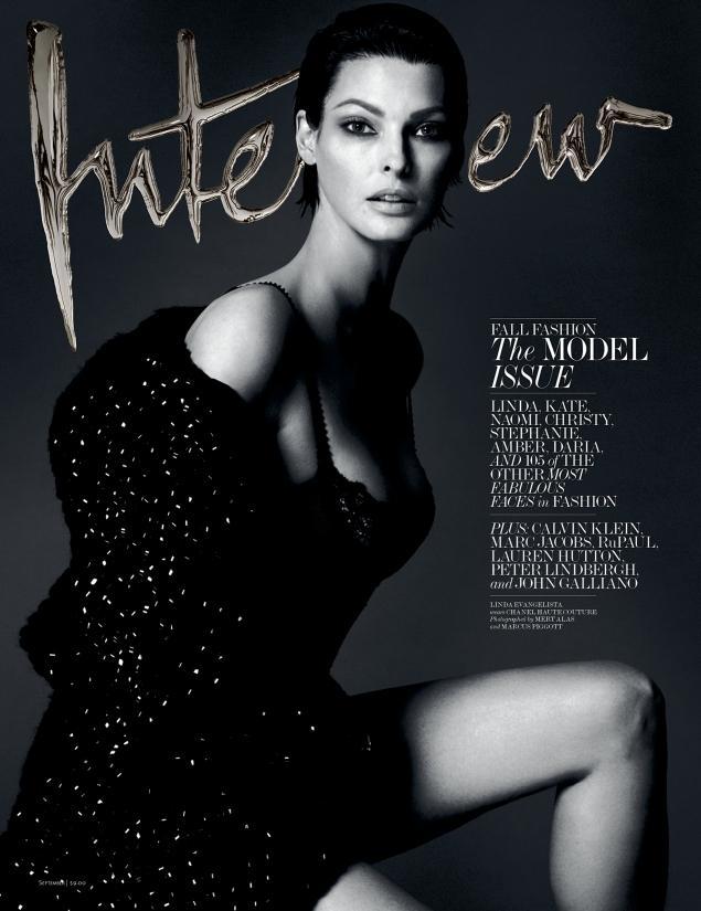 Ли́нда Евангели́ста (Linda Evangelista) для Interview Magazine (сентябрь 2013, фото моделей)