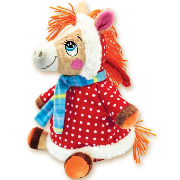 плюшевая лошадка для ребенка на Новый год 2014