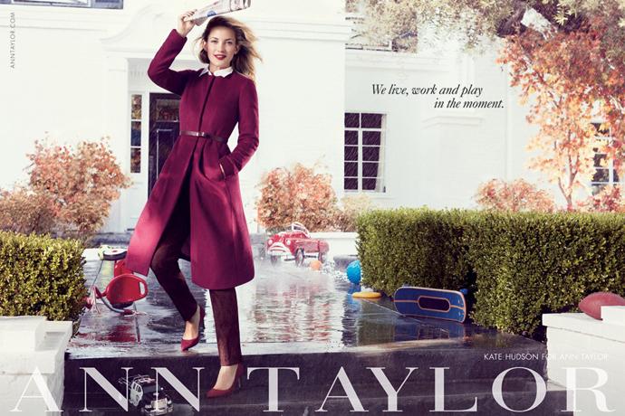 Кейт Хадсон:фотосессия с племянниками для бренда Ann Taylor