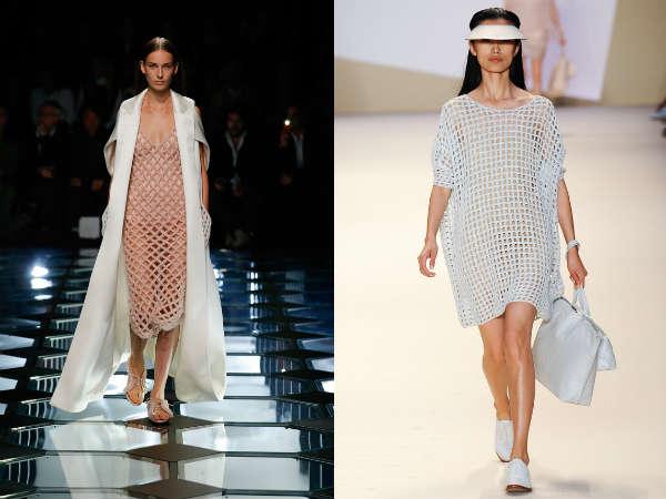 Платье из сетчатых тканей