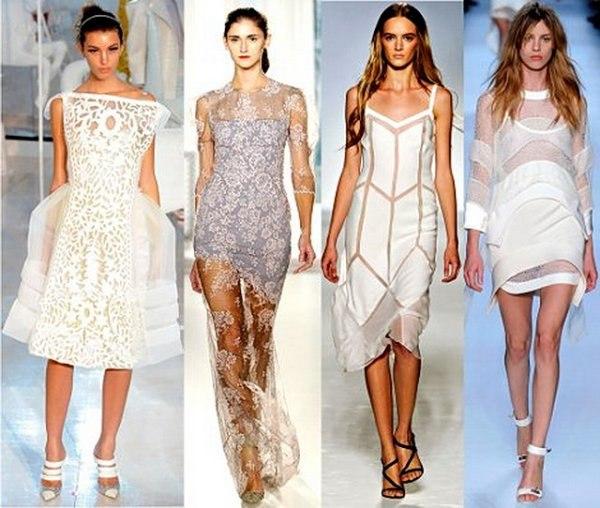 Платье с прозрачной тканью