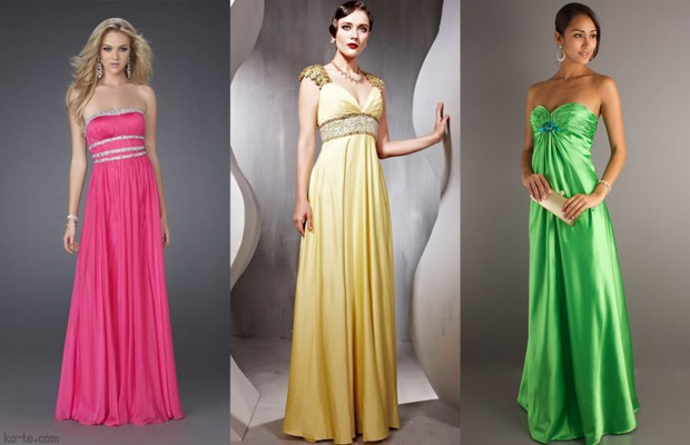 Платье в стиле ампир
